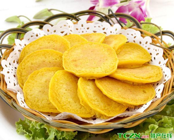 金黄玉米饼
