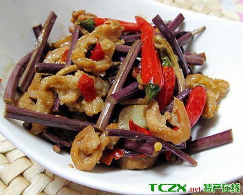 辣椒蕨菜炒肉丝