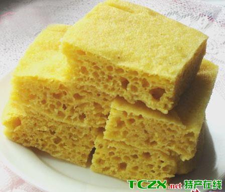 粘玉米发糕