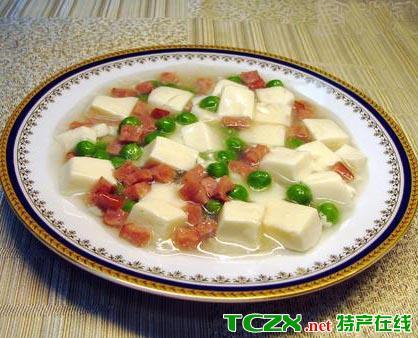 火腿嫩豆腐