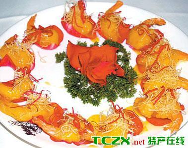 玫瑰沙拉虾
