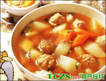 萝卜煮肉丸