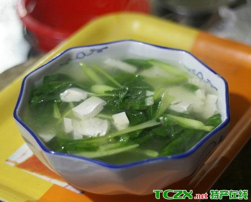 碧江豆腐青菜汤