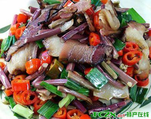 盐津熏肉炒野菜
