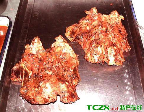 铁板烤鸡架