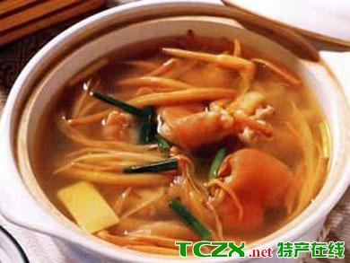 黄花菜蘑菇汤