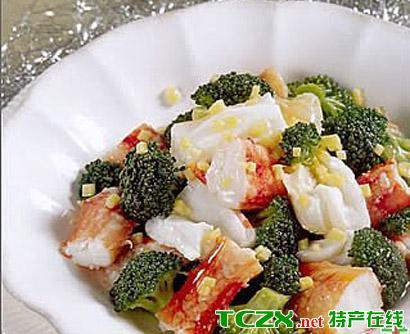 海米拌菜花