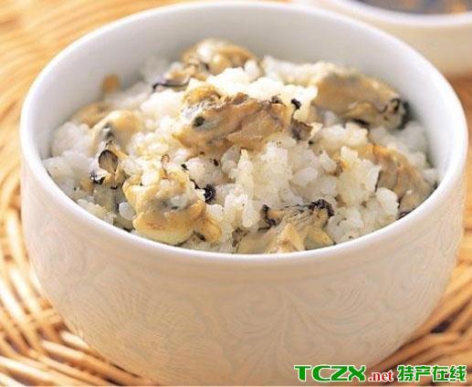 牡蛎蒸米饭