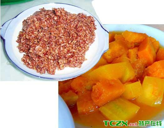 红米饭南瓜汤