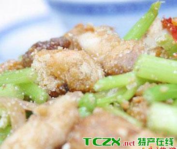 芹菜炒鳗杂