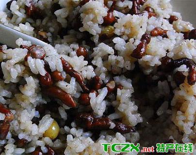 人参果拌酥油大米饭